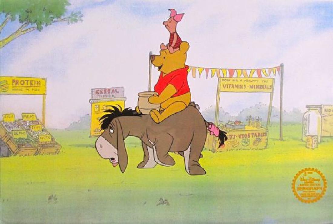 Disney WINNIE THE POOH 1968 Original Serigraph Cel