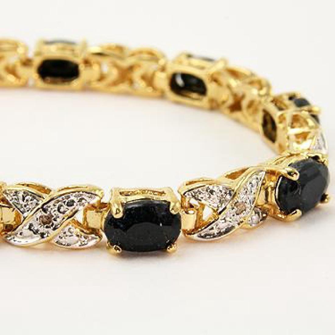 Amazing 12 CT Sapphire Diamond Bracelet - 2