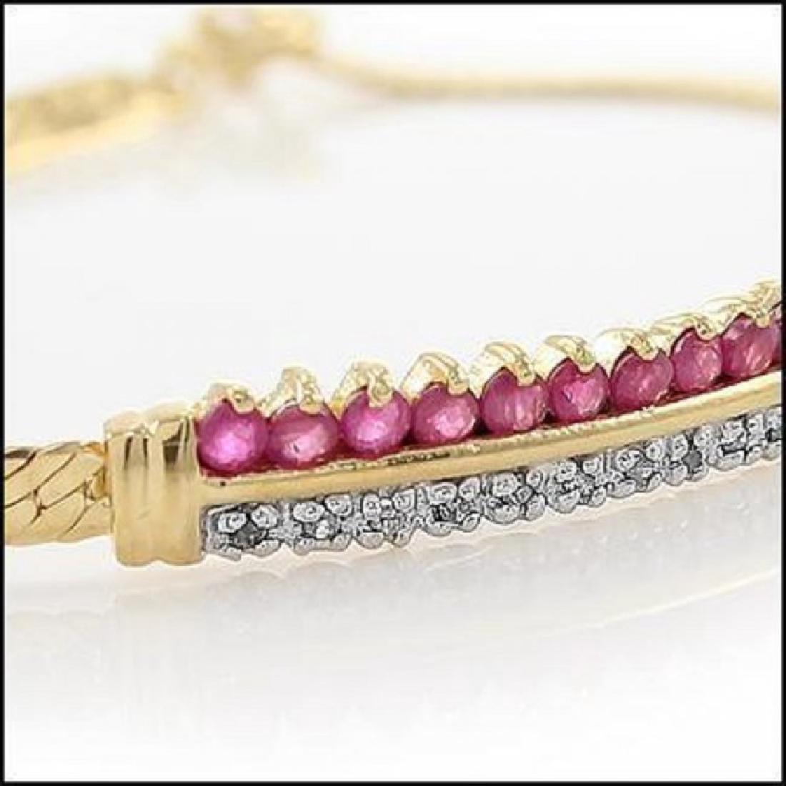 3.39 CT Ruby & Diamond Designer Bracelet $960 - 2