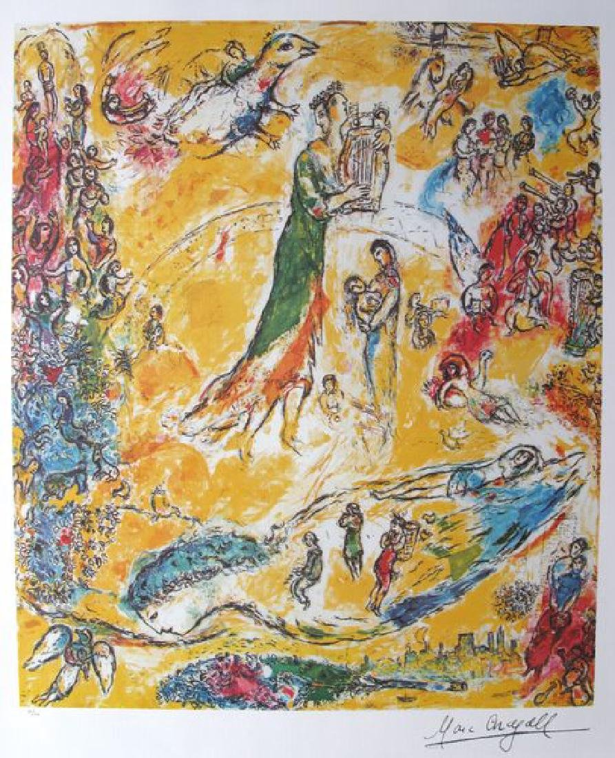 Marc Chagall SORCERER OF MUSIC Ltd Ed Plate Signed