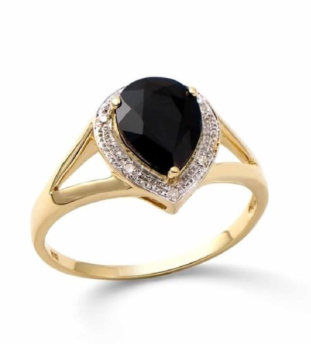 2.63 Cts Certified Sapphire & Diamond Gold Ring $4,571