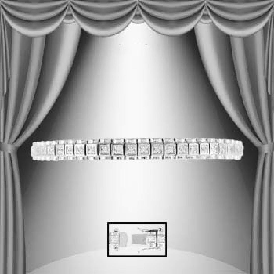 1.83 CTW Diamond Tennis Silver Bracelet