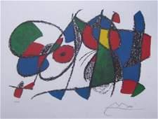 Joan Miro VOLUME II LITHO VIII Ltd Ed Plate Signed