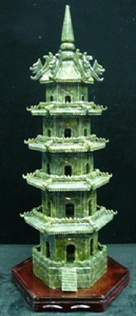 Handcrafted Jade 5 Decker Pagoda
