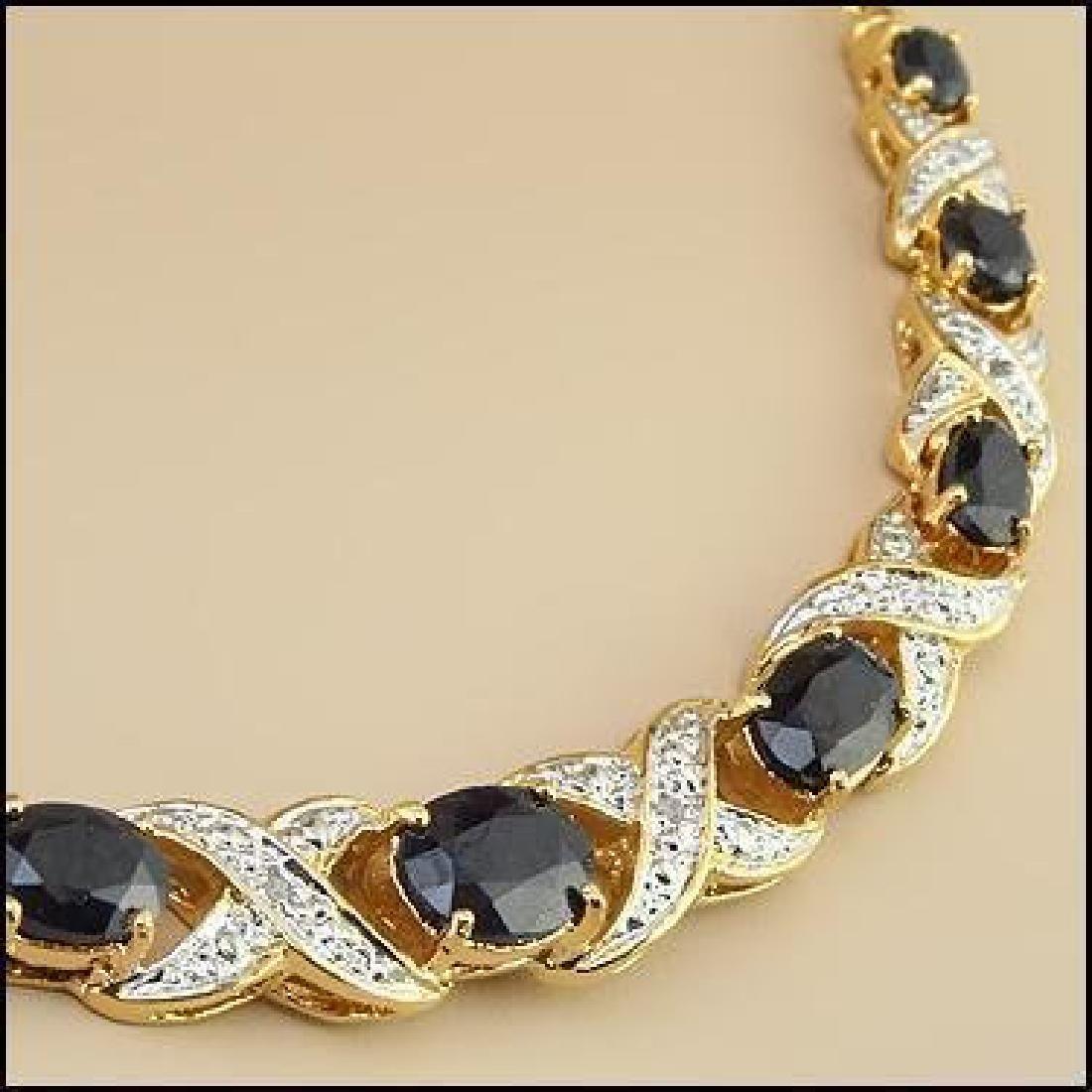 12.37 CT Sapphire & Diamond Designer Necklace $1,415 - 2