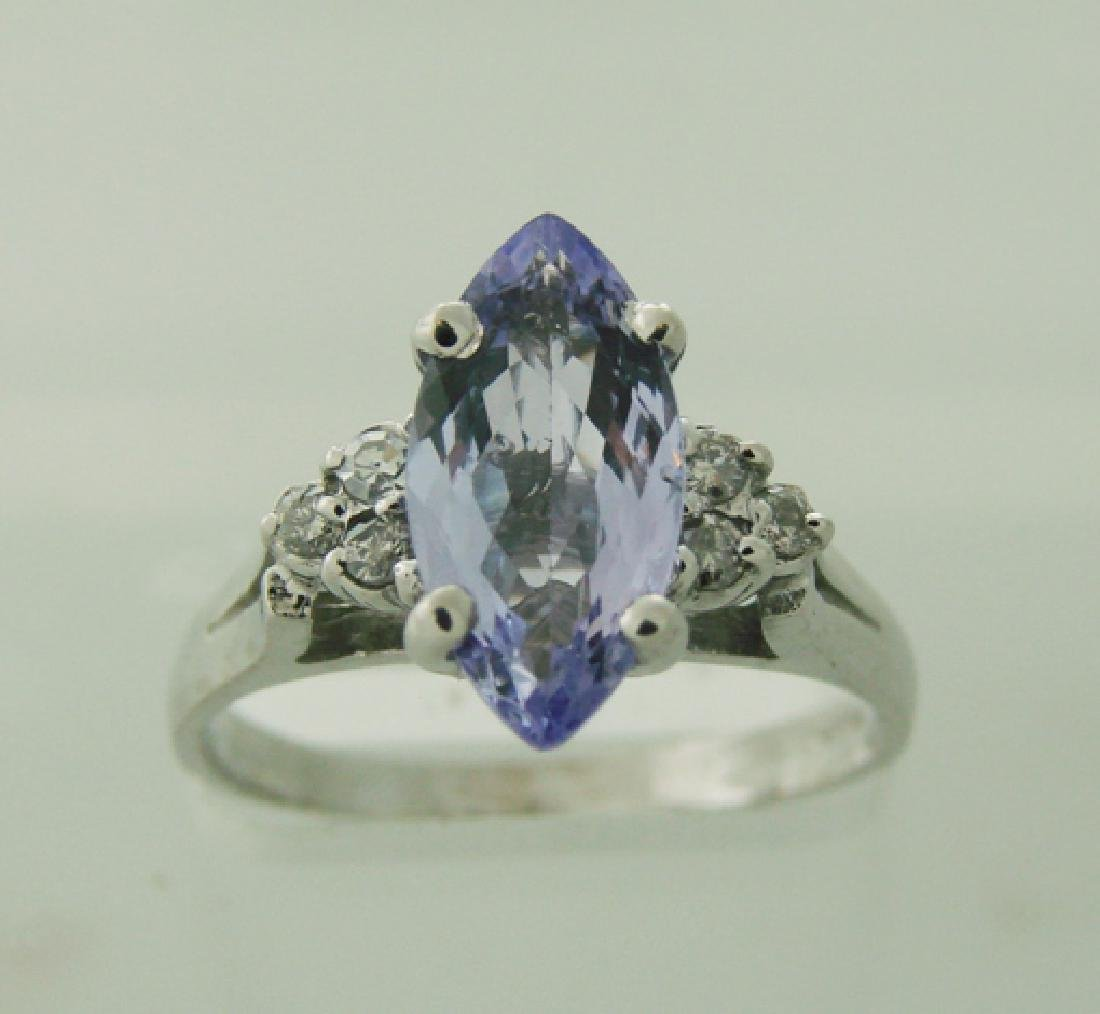Diamond & Tanzanite Ring Appraised $6,150