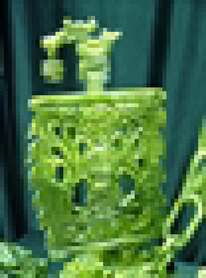"24"" GREEN JADE DRAGON BOAT - 3"