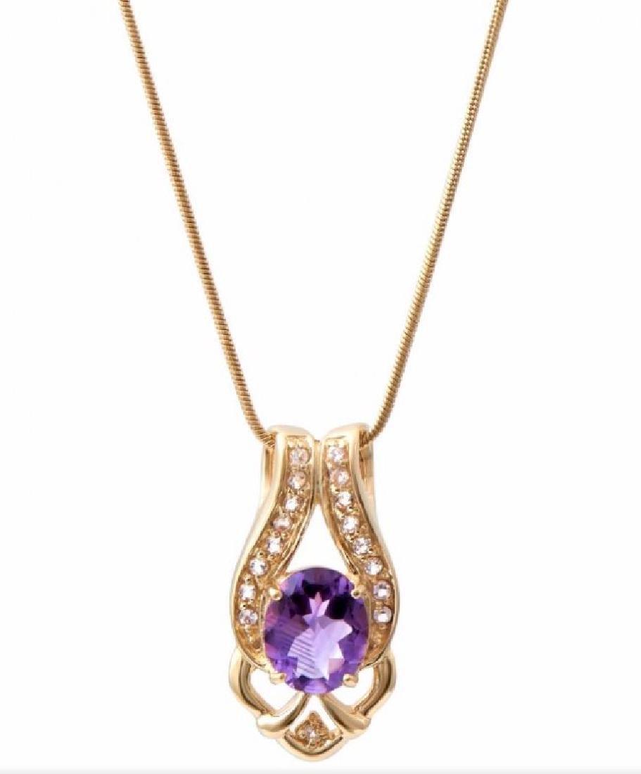 6.69 CTW Amethyst & Diamond Fine Necklace $935