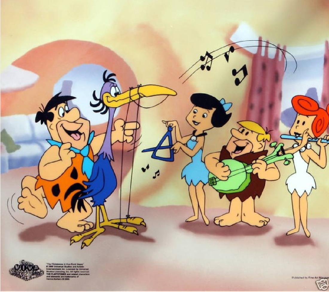 The Flintstones FRED PLAYING THE HARP Limited Ed.