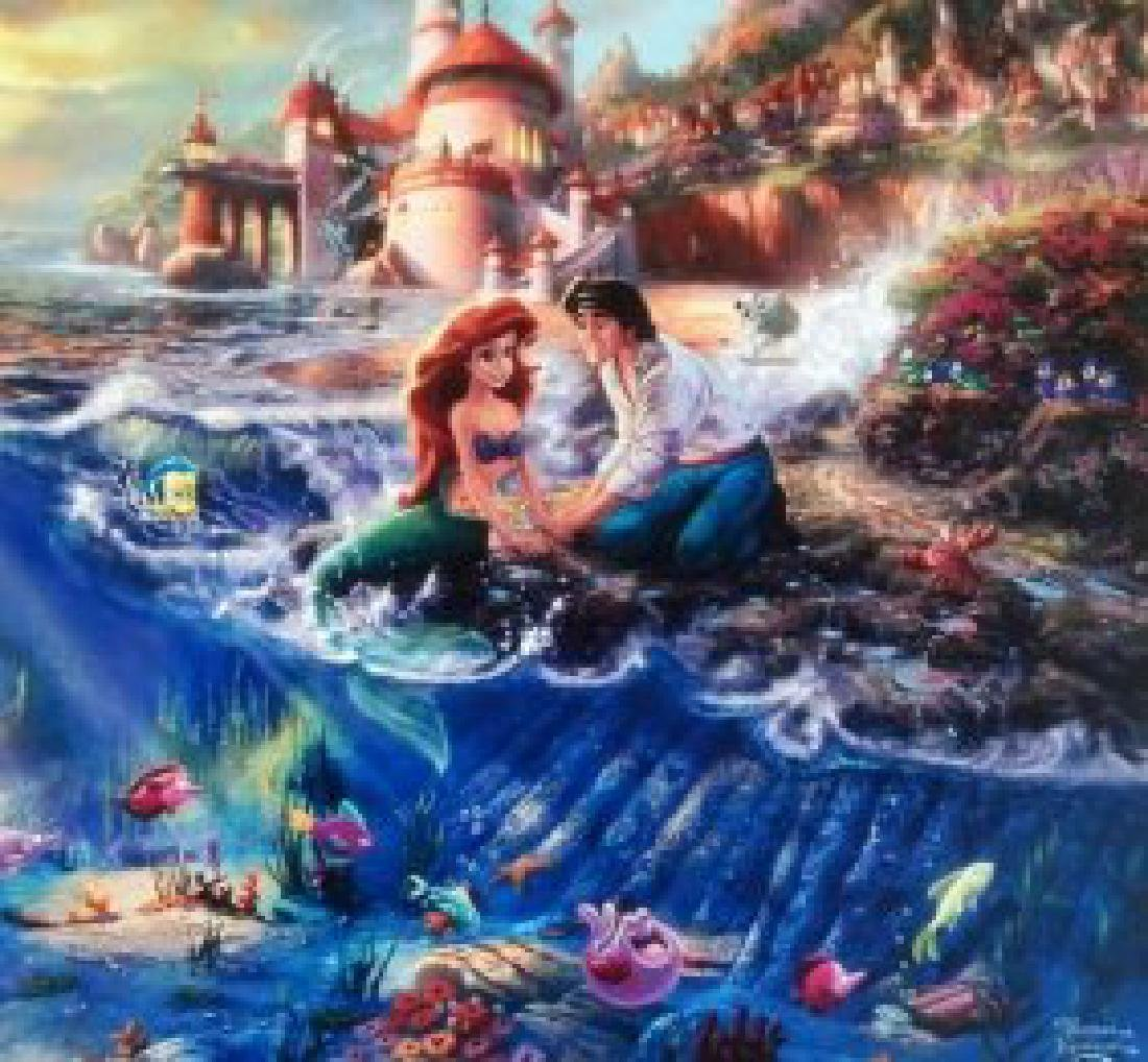 Kinkade Lithograph Disney - Ariel - The Little Mermaid
