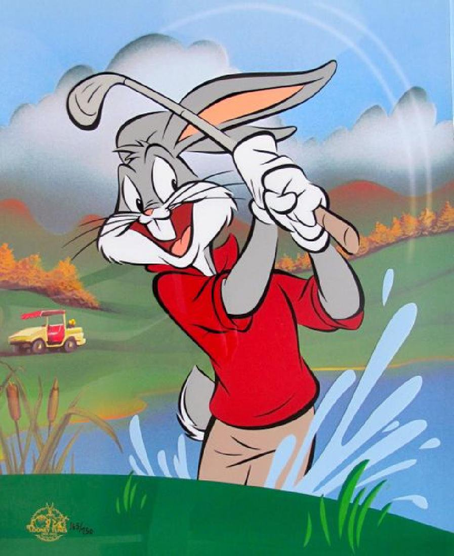 Looney Tunes BUGS BUNNY GOLF Large Sericel Animation