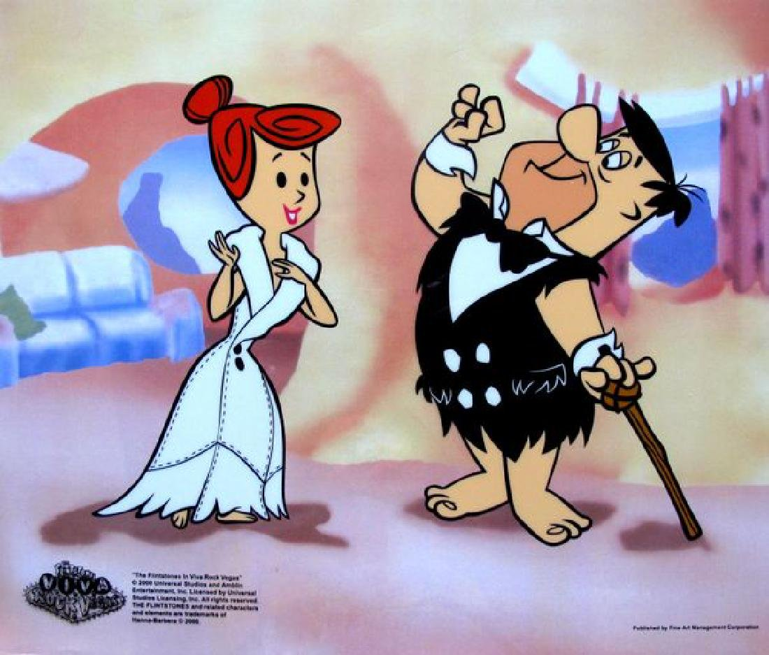 The Flintstones FRED AND WILMA'S DATE Animation Sericel