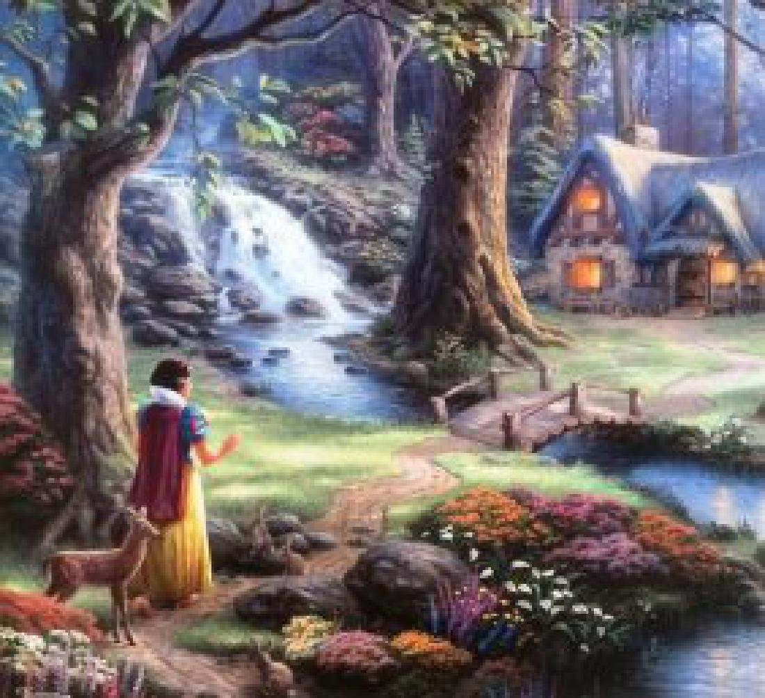 Kinkade Lithograph Disney - Snow White