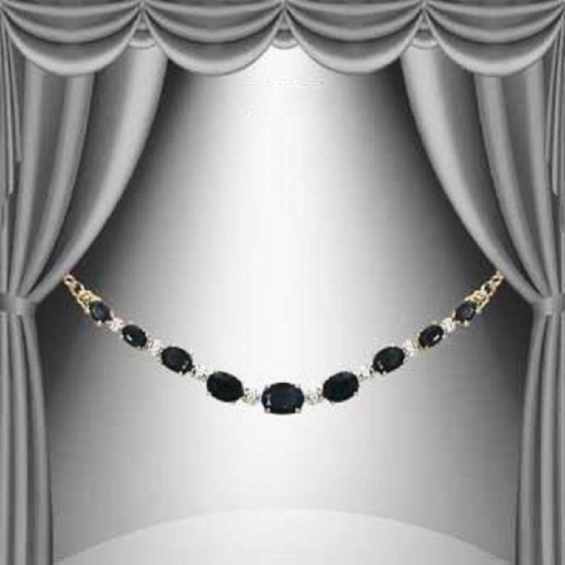 11.27 CT Black Sapphire & Diamond Necklace $1580