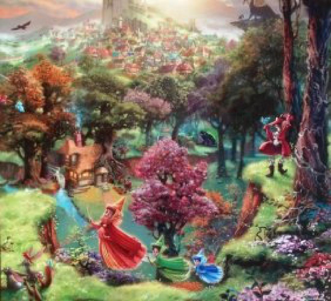 Kinkade Lithograph Disney - Fairy Godmothers