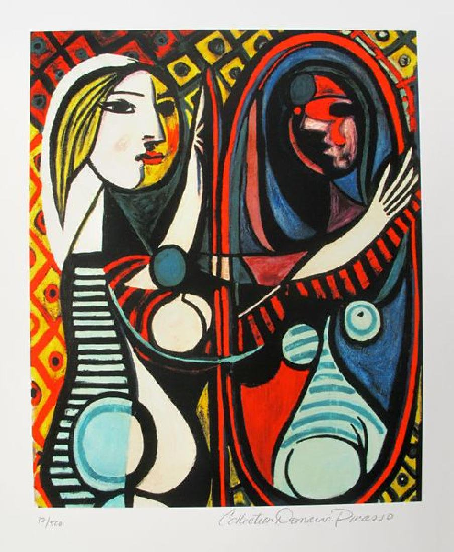 Pablo Picasso GIRL BEFORE A MIRROR Estate Signed Giclee