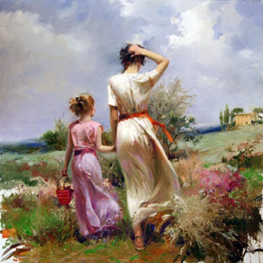 "Pino ""TUSCAN STROLL"" Ltd Ed. Giclee on Canvas"