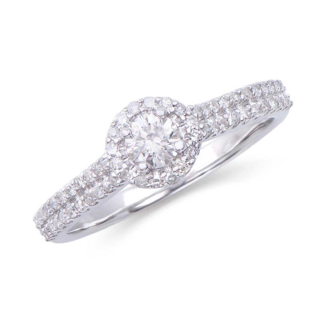 0.551 Cts Certified Diamond 14K Designer Engagement