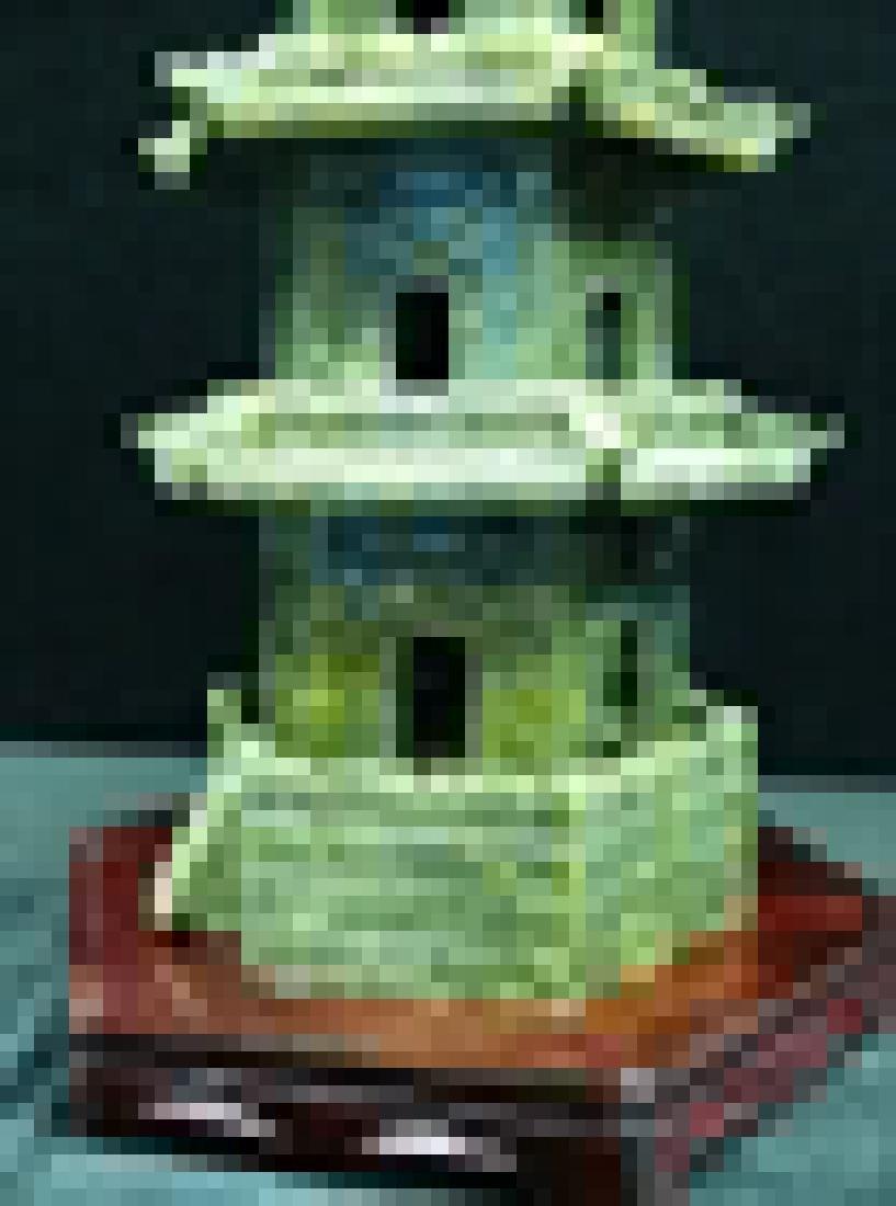 Handcrafted Jade 5 Decker Pagoda - 2