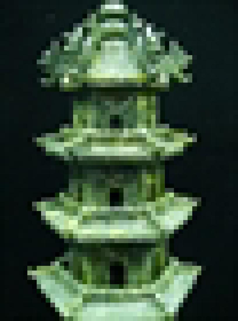 Handcrafted Jade 5 Decker Pagoda - 3