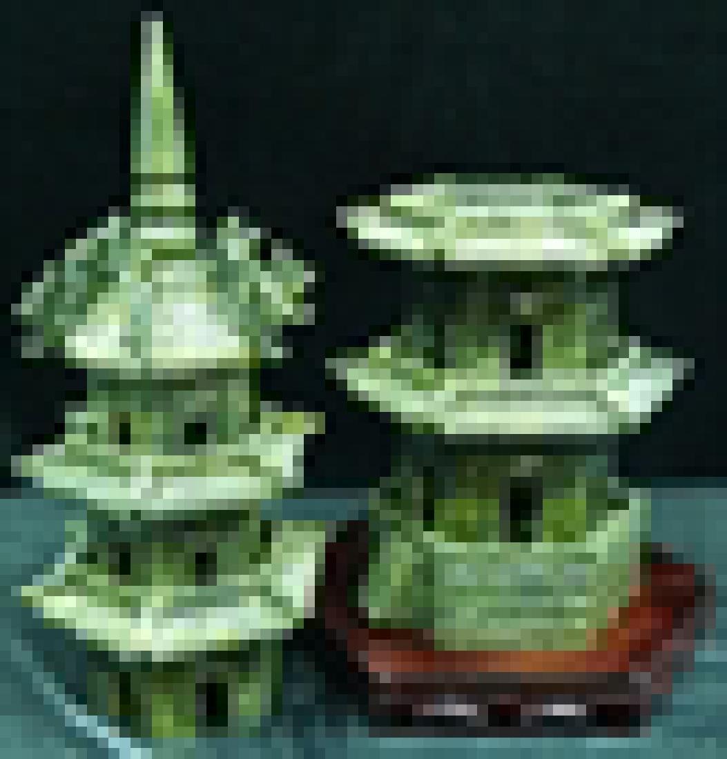 Handcrafted Jade 5 Decker Pagoda - 4