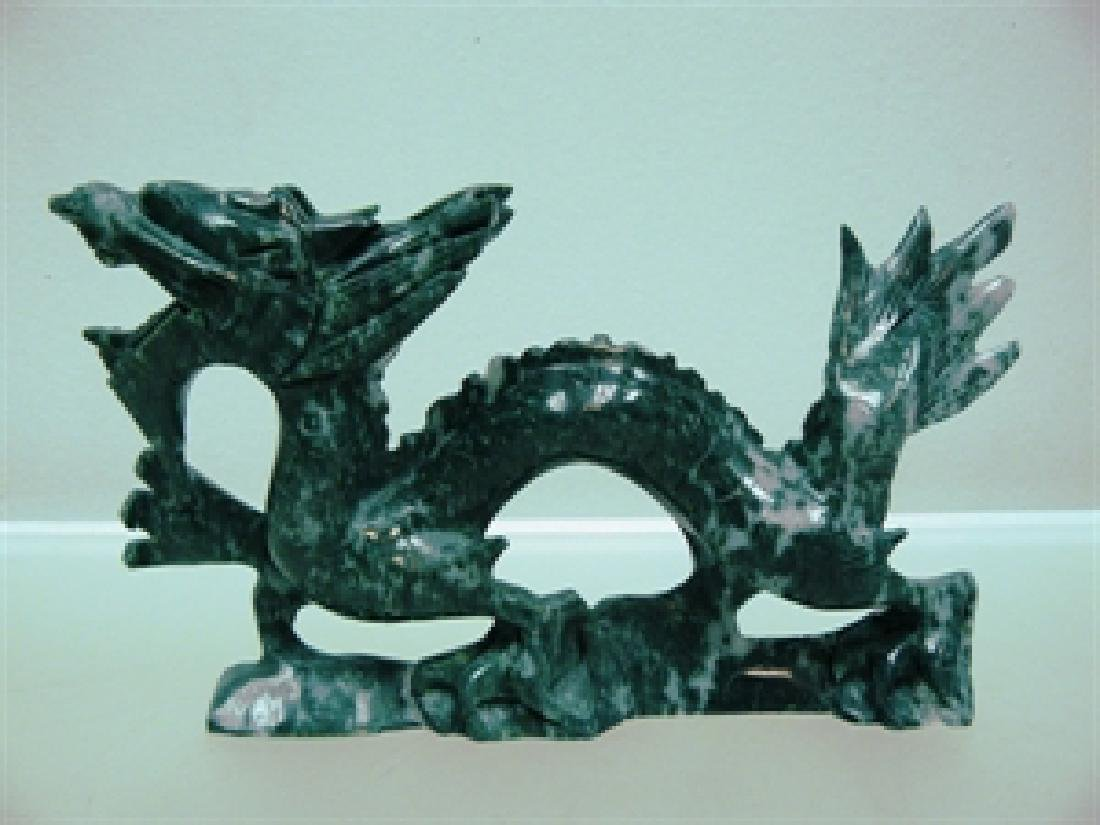 "HANDCRAFTED 9"" JADE DRAGON"