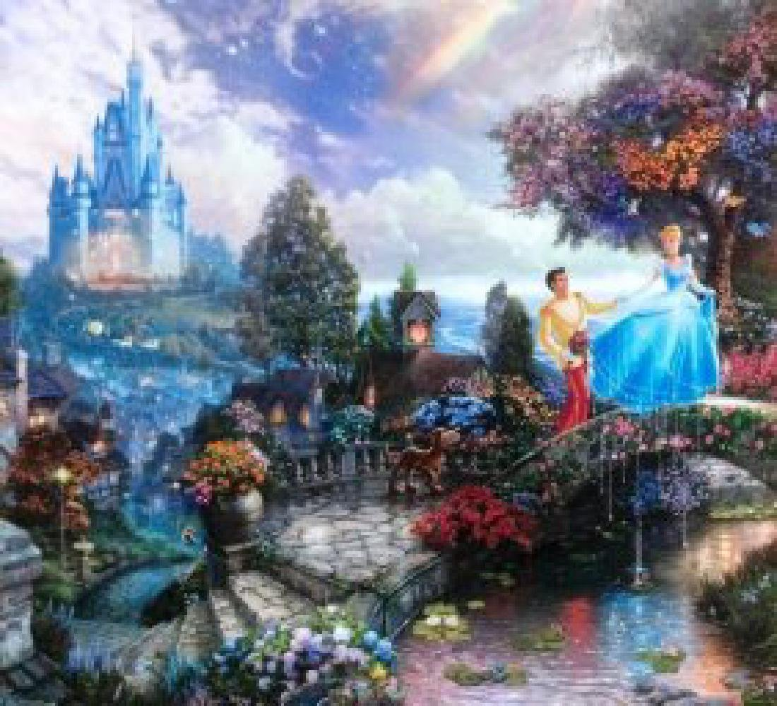 Kinkade Lithograph Disney - Cinderella