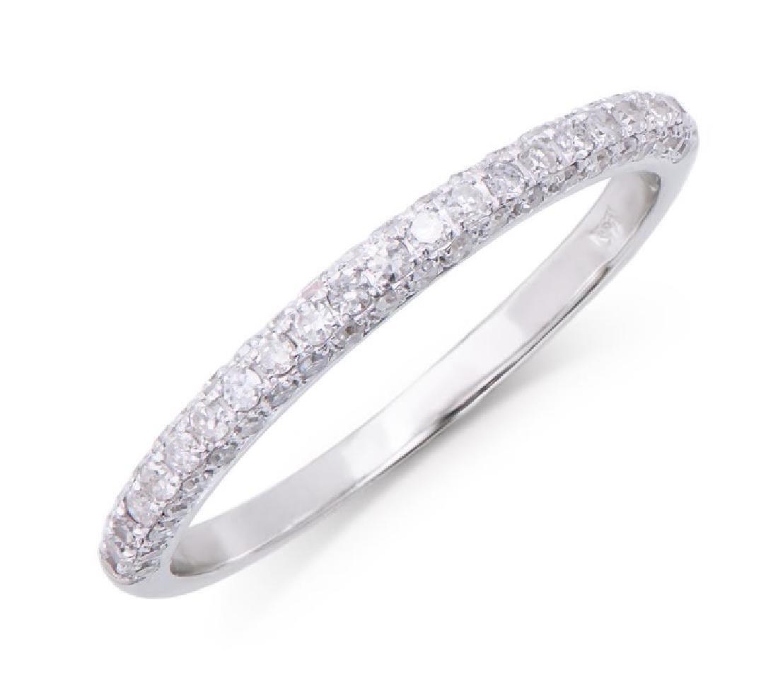 0.367 Cts Certified Diamond 14K Designer Gold Ring