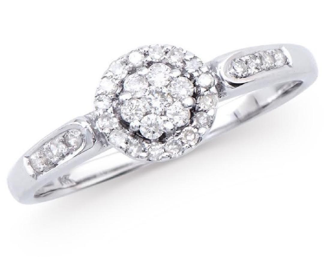 0.28 Cts Certified Diamond 14K Engagement Designer Gold