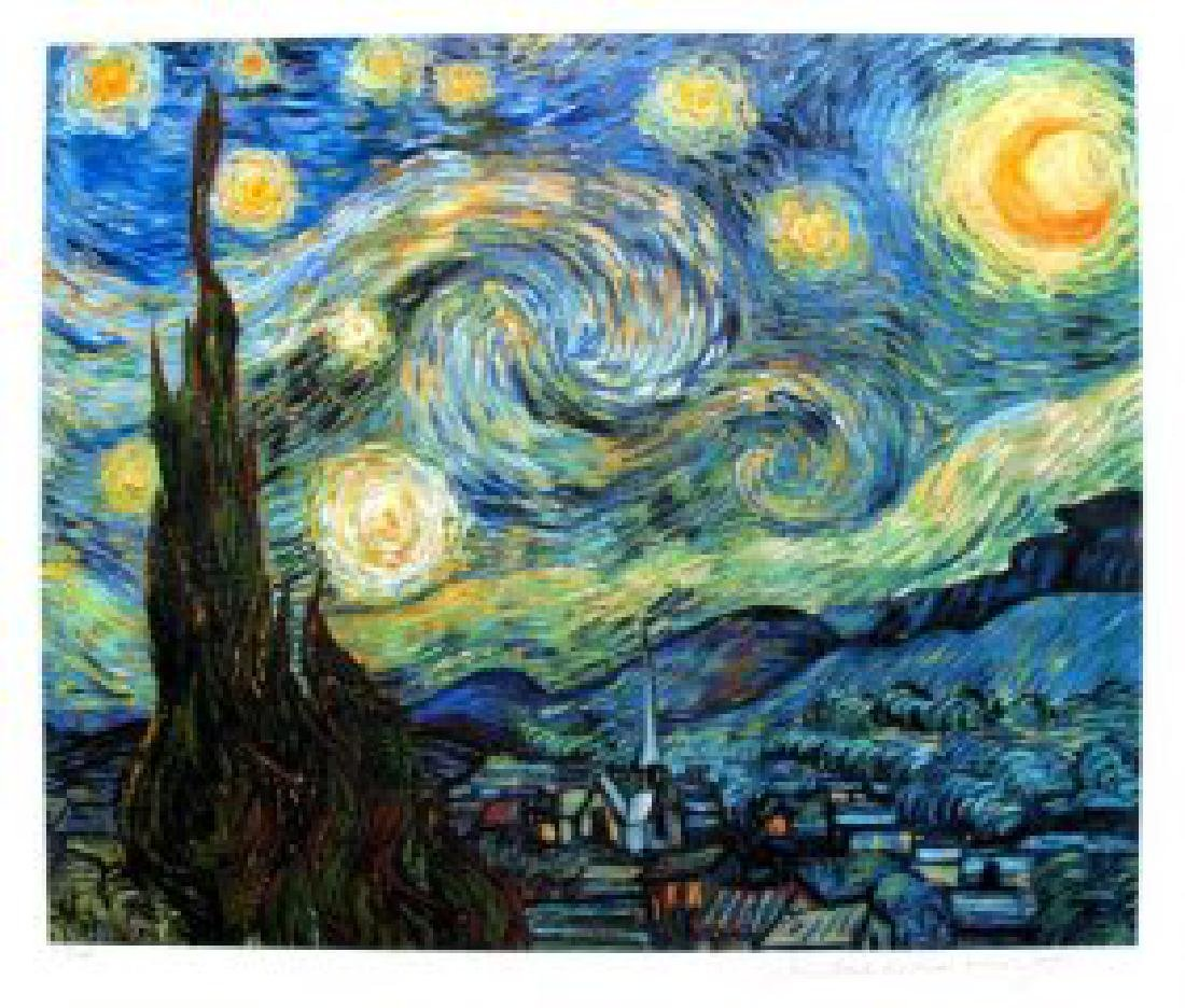 Van Gogh STARRY NIGHT Estate Signed Limited Ed. Giclee