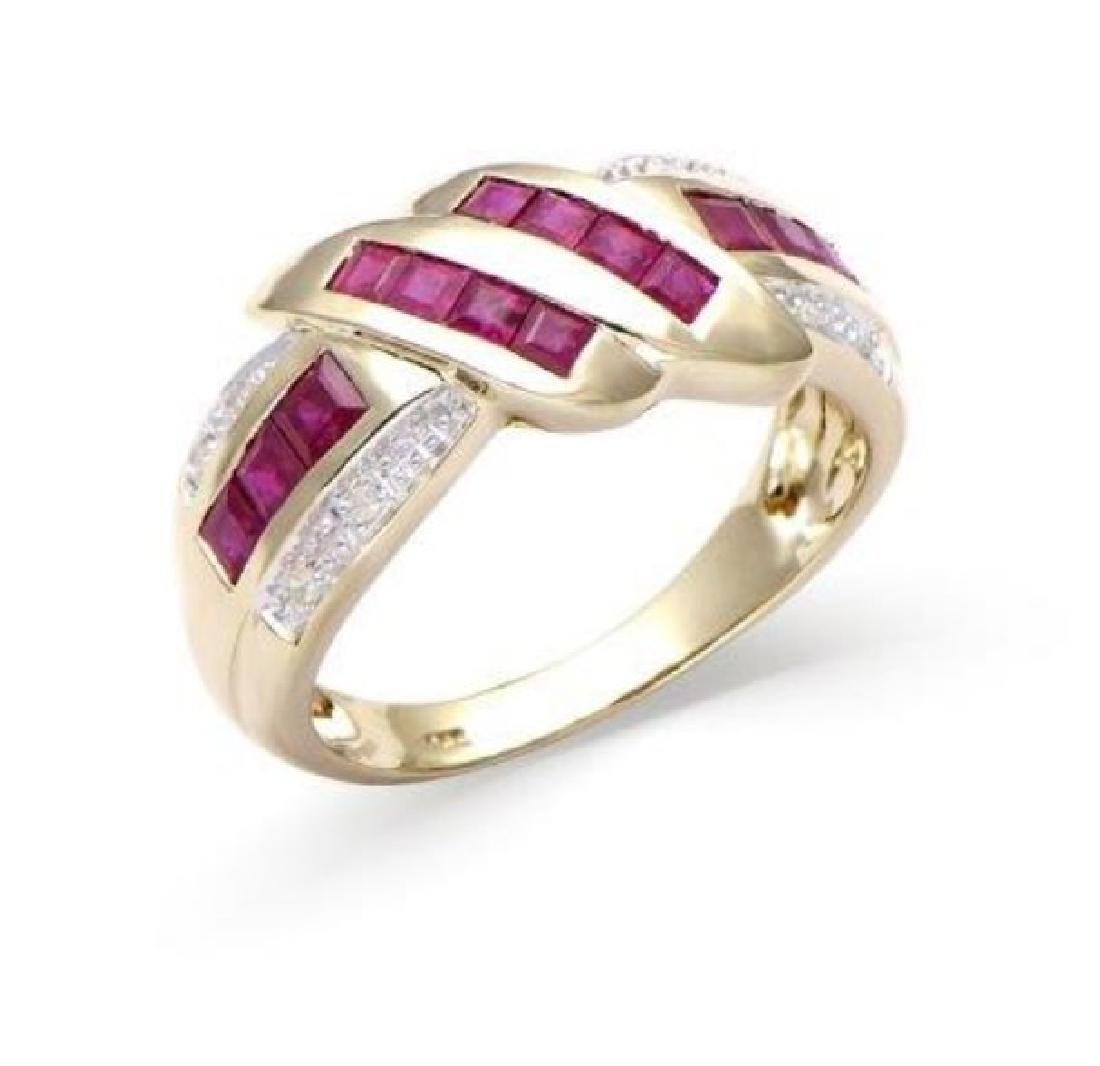 0.23 Cts Certified Ruby & Diamond Fine Gold Ring $5,267