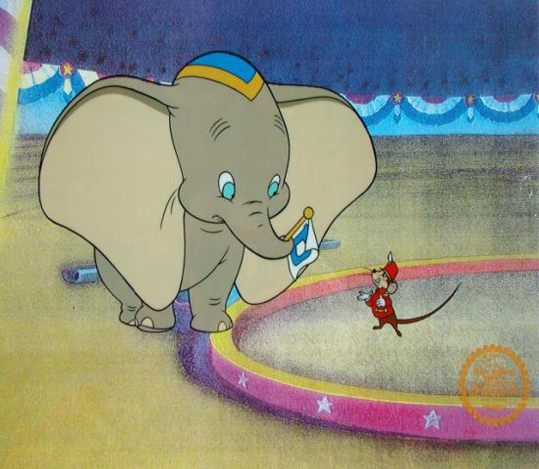DISNEY DUMBO & TIMOTHY MOUSE Original Art Sericel Cel