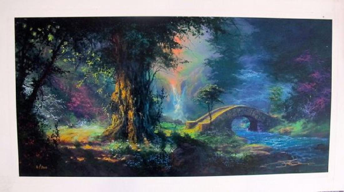 "JAMES COLEMAN ""OVER THE STORM BRIDGE"" Ltd Ed Serigraph"