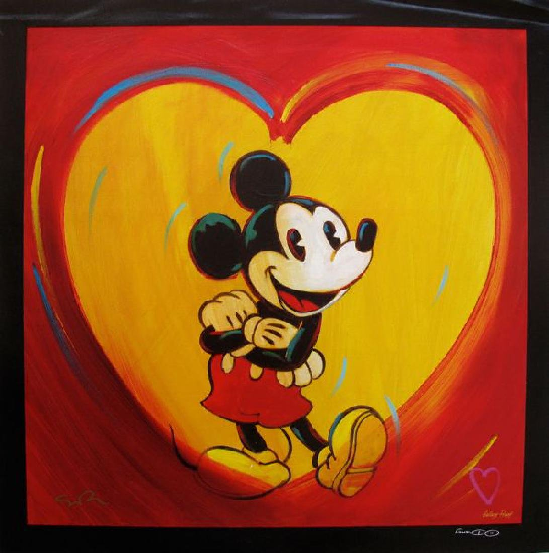 """Simon Bull Disney MICKEY MOUSE """"I HEART MICKEY MOUSE"""""""