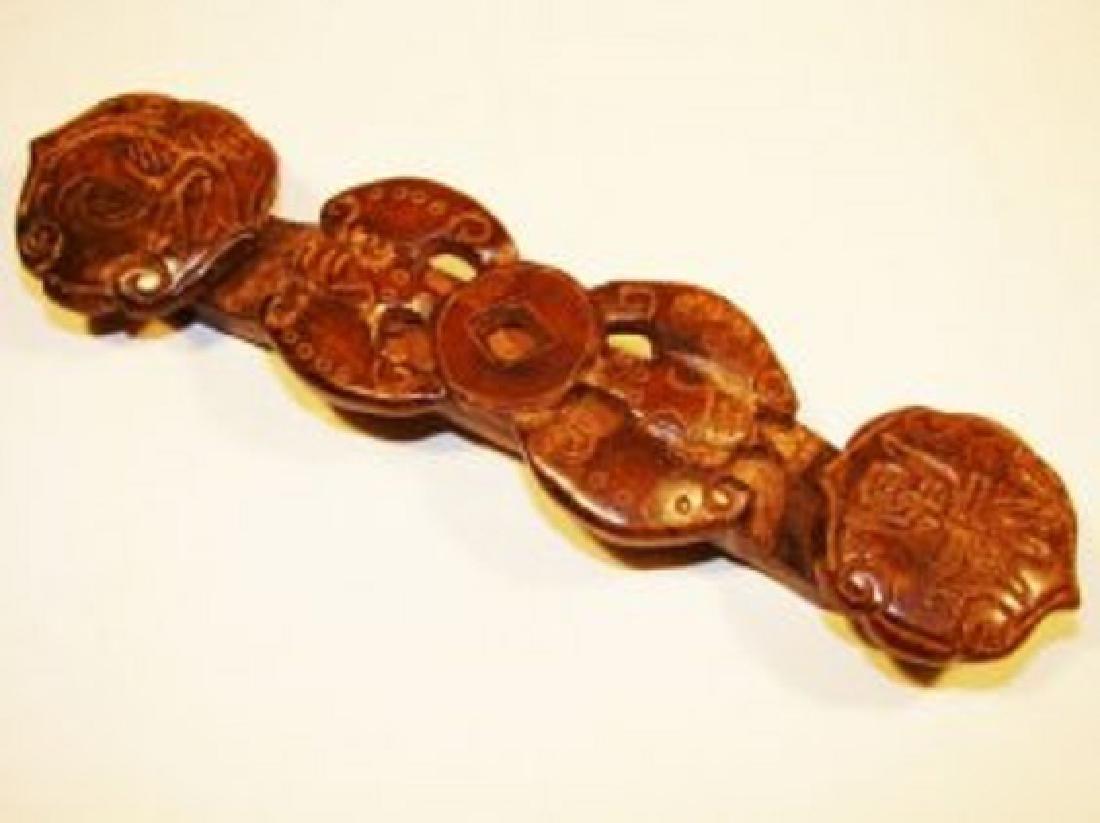 Hand Carved 500+ CT Jade Twin Bat-Yu-Ri Carving