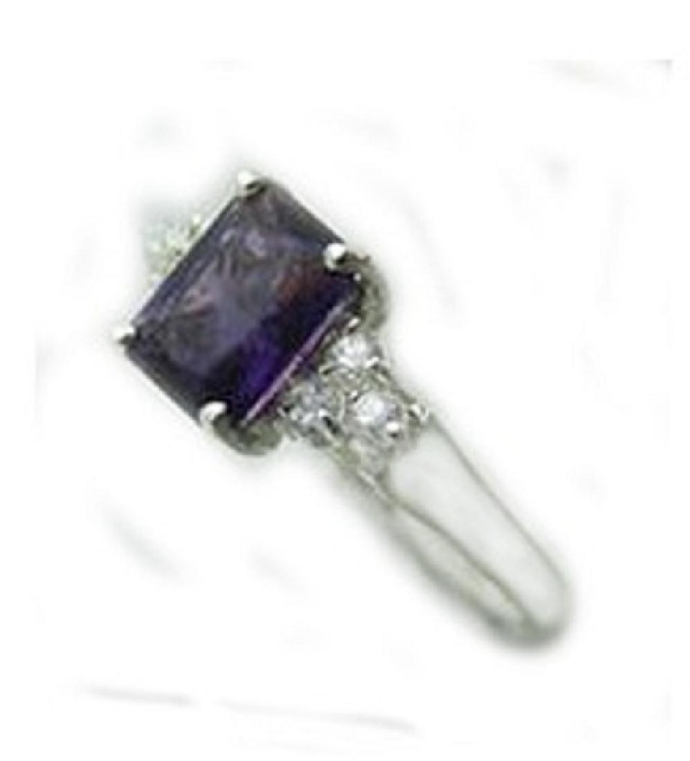 2.10 CT Amethyst Diamond Ring Appraised $3,200 - 2