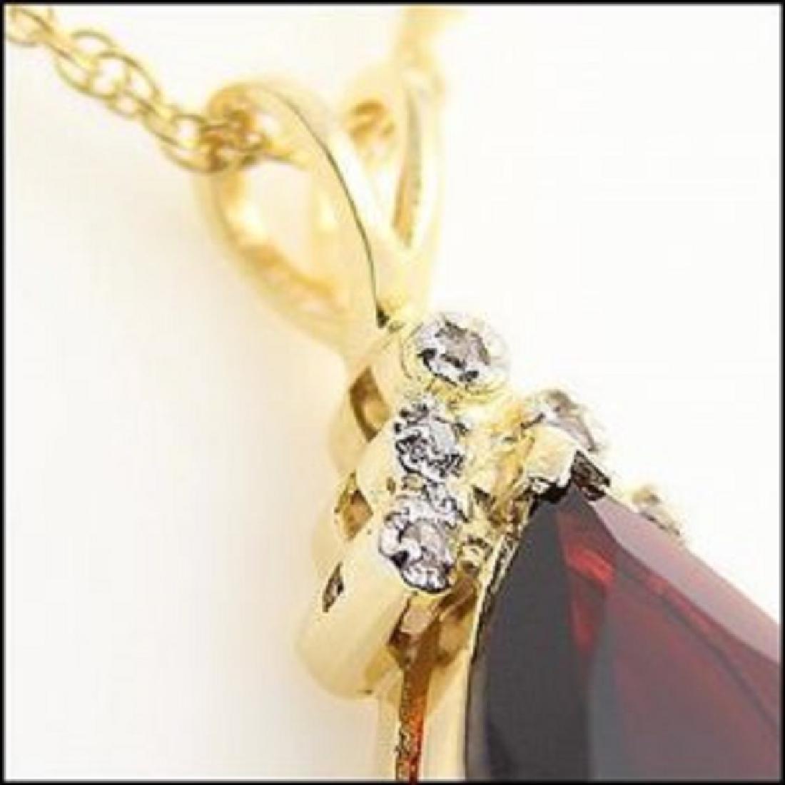 5.38 CT Garnet & Diamond Designer Necklace - 2