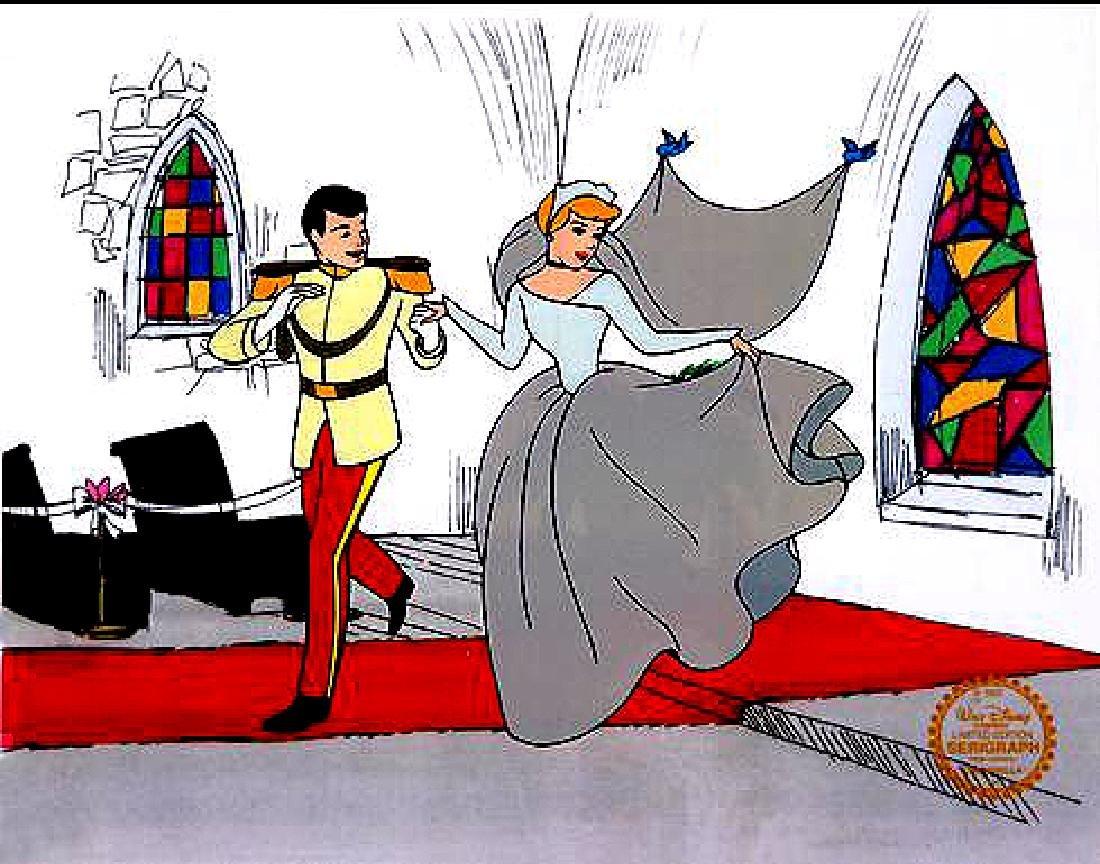 DISNEY CINDERELLA WEDDING Sericel Cel