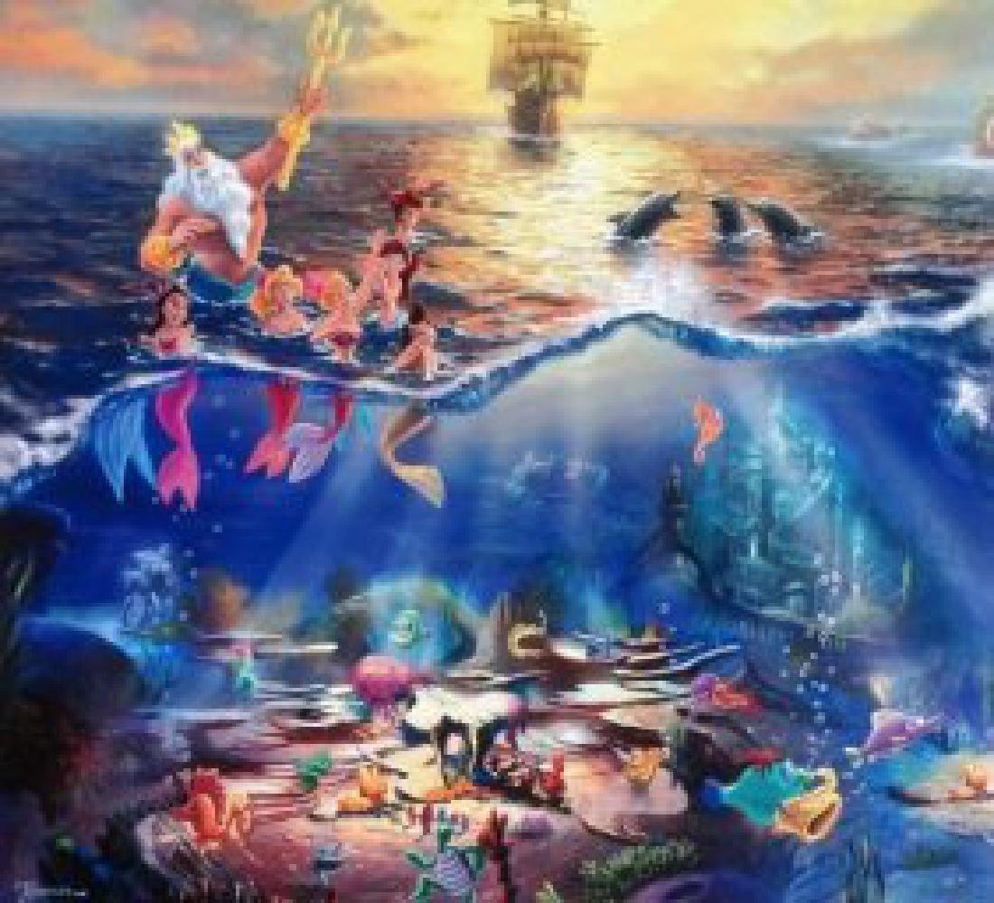 Kinkade Lithograph Disney - The Little Mermaid