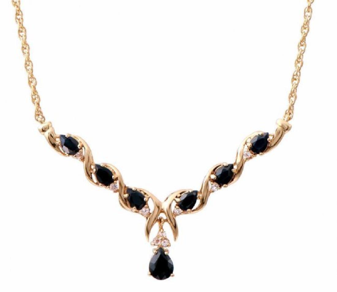 7.69 CT Sapphire & Diamond Fine Necklace $1325