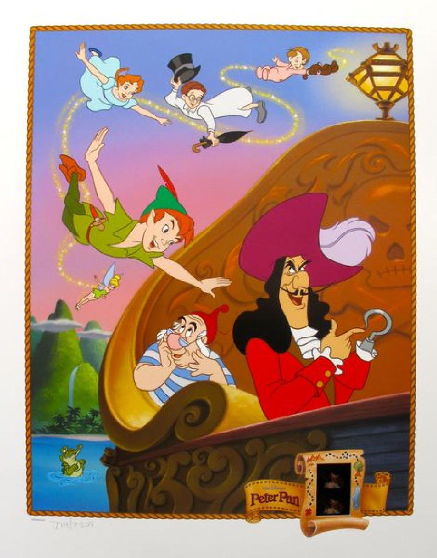 DISNEY PETER PAN Limited Ed. Lithograph with Original