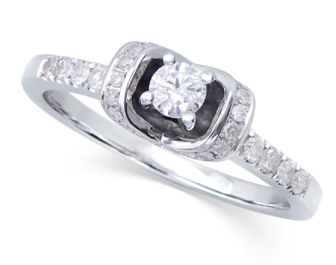 0.459 Cts Certified Diamond 14K Designer Gold Ring