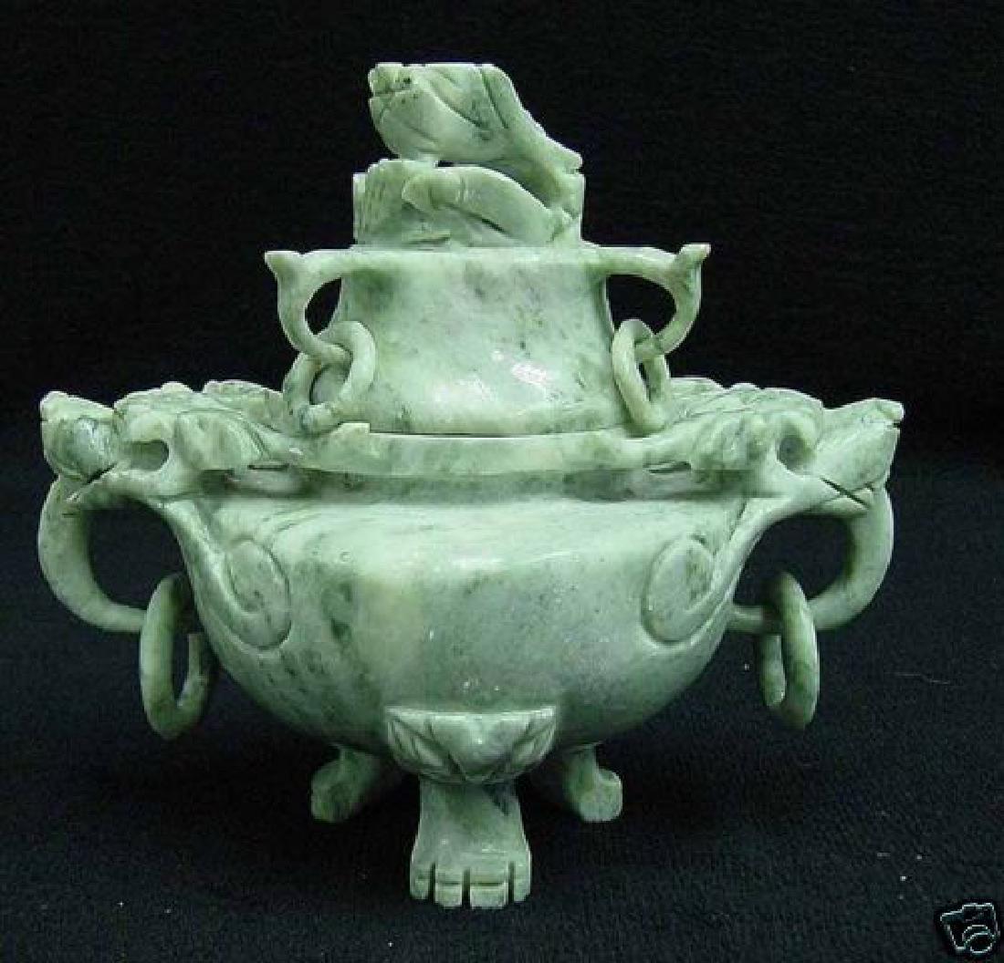 Royal Antique Jade Incense Burner