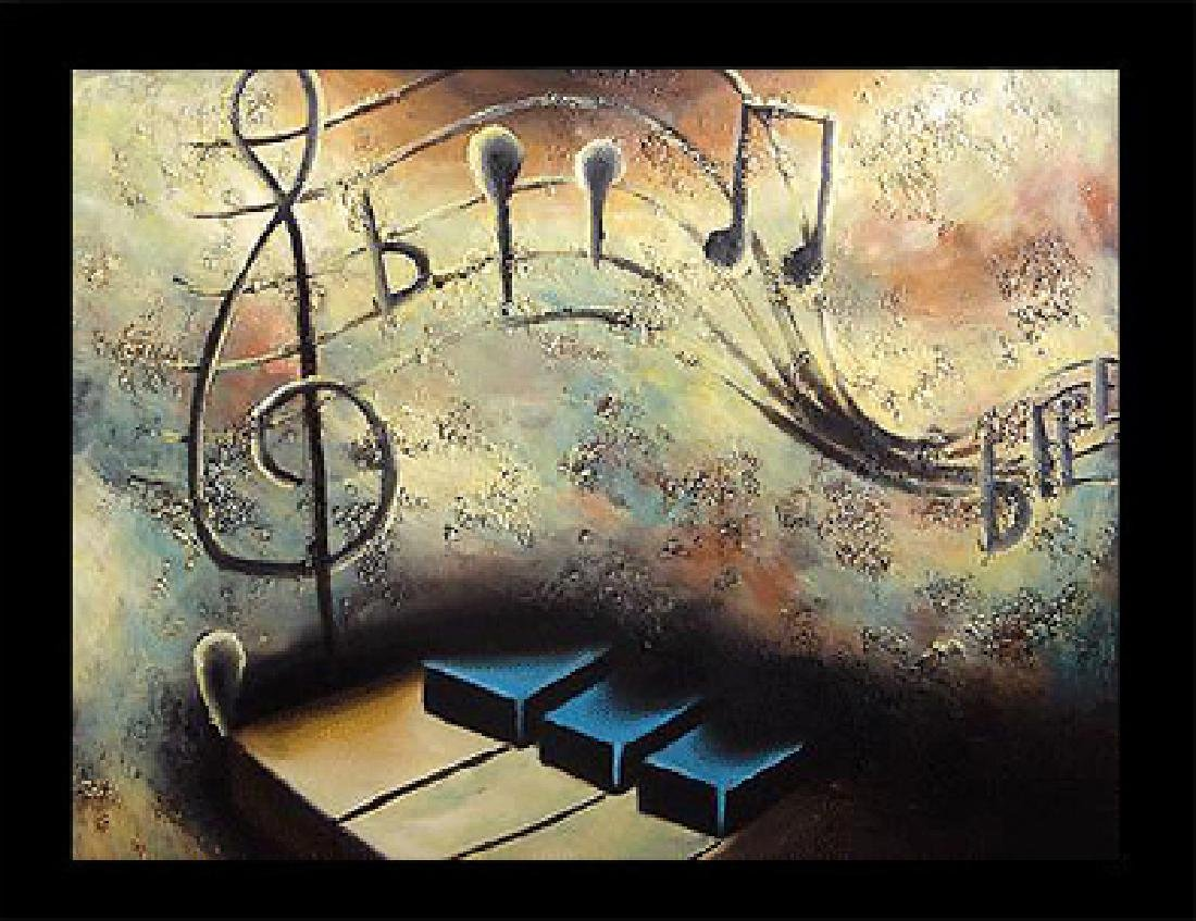 Framed Oil Painting, Divine Melody