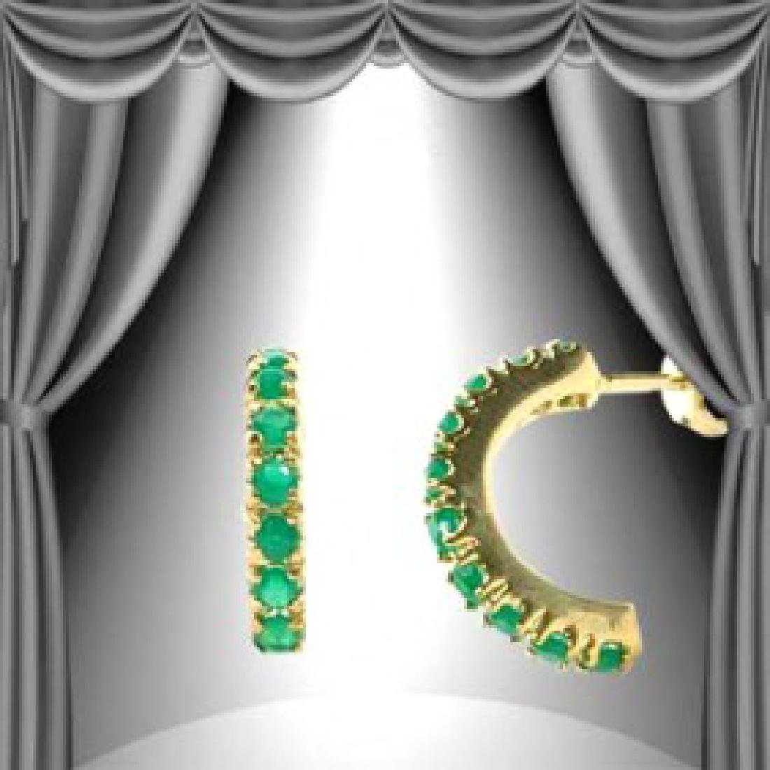 1 CT Green Agate Crescent Earrings