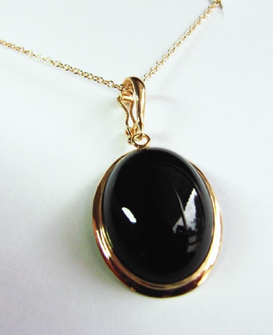 4.10 Black Onyx Pendant Appraised at $2,800