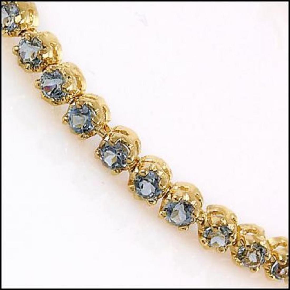 10.22 CT Blue Topaz Tennis Fine Bracelet $1120 - 2