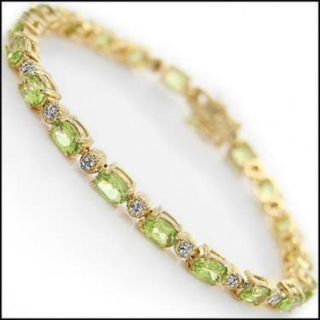 10.66 Ct Peridot & Diamond Fine Bracelet $1335