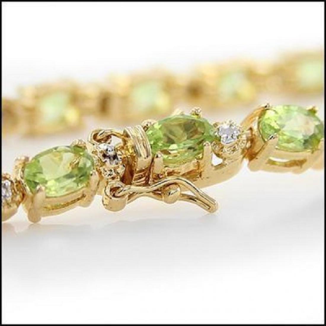 10.66 Ct Peridot & Diamond Fine Bracelet $1335 - 2