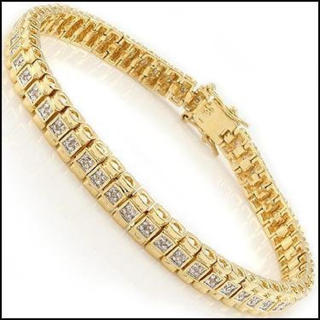 1.01 CTW Diamond Designer Fine Bracelet